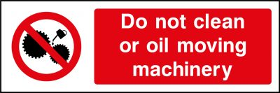 Oil moving machinery sticker