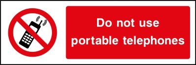 Portible Telephone Use Sticker