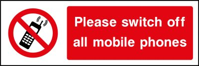 Switch Off All Mobile Phones Sticker
