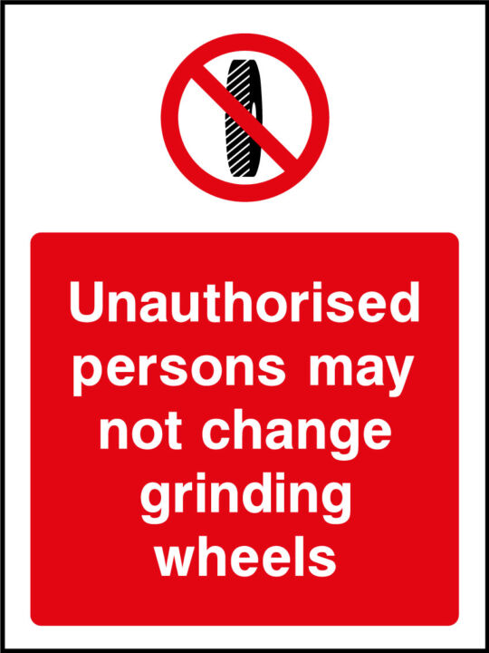 Grinding Wheels Sticker Health And Safety Signs