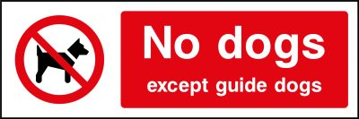 No Dogs Except Guide Dogs Sticker