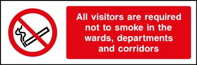 Visitors are required not to smoke sticker