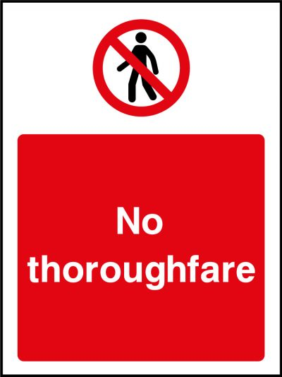 No thoroughfare sticker