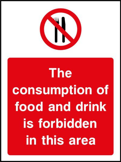 Consumption of Food & Drink Sticker