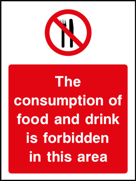 Consumption of food drink sticker health and safety signs - Stickers protection cuisine ...