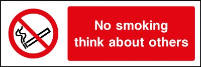 No smoking think about others sticker