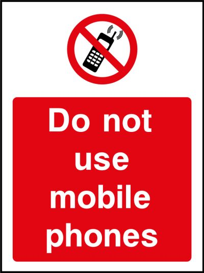 Do Not Use Mobile Phones Sticker