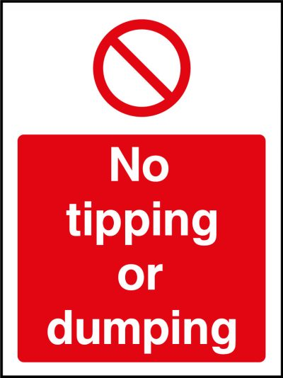 No Tipping or Dumping Sticker