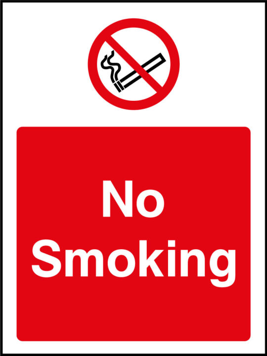 No Smoking Sticker Health And Safety Signs