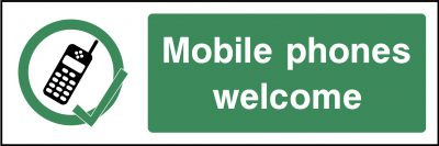 Mobile Phones Welcome Sticker