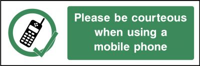 Mobile Phones Use Sticker