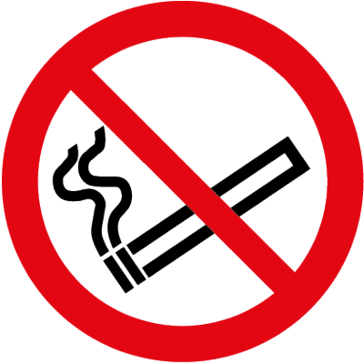 No smoking symbol clear window sticker