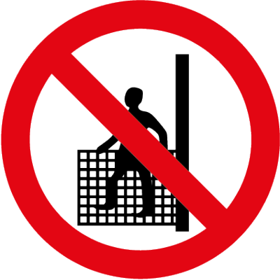 No persons in hoist symbol