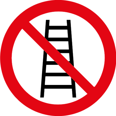 Ladder use symbol