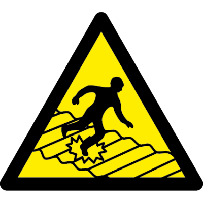 Fragile roof symbol