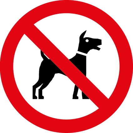 No Dogs Symbol Health And Safety Signs