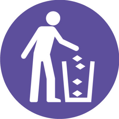 Rubbish symbol
