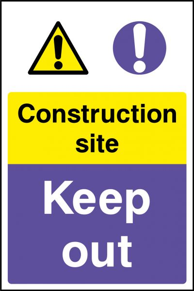 Constrcution site keep out sticker