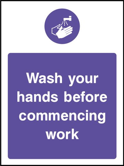 Wash hands stickers