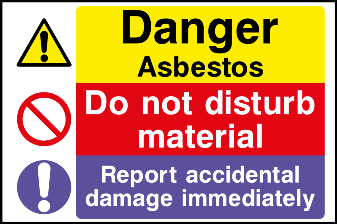 asbestos sticker health and safety signs. Black Bedroom Furniture Sets. Home Design Ideas