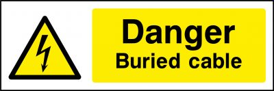 Danger buried cable sticker