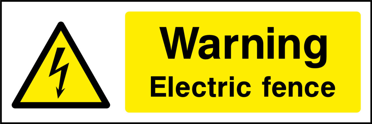 Warning Electric Fence Sticker Health And Safety Signs
