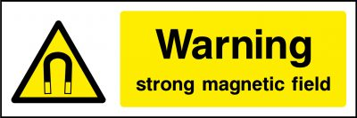 Warning stong magnetic field sticker