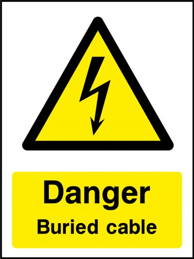 Danger burried cable sticker
