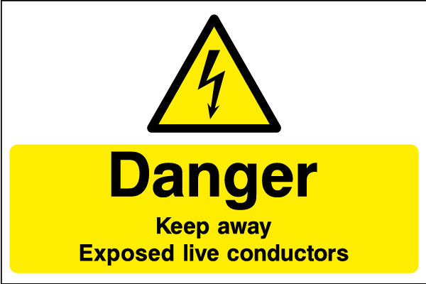 Danger Keep Away Exposed Live Conductors Sticker Health