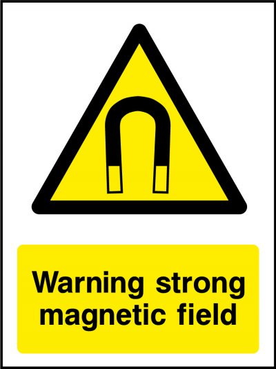 Warning strong magnetic field sticker