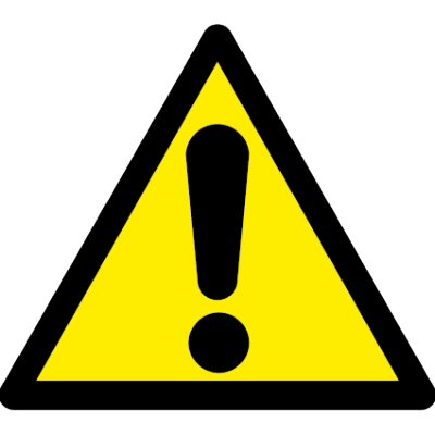 Explimation warning symbol