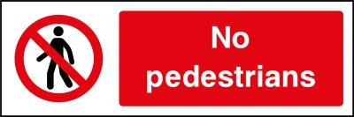 No pedestrians sticker