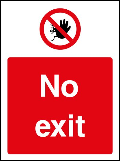 No exit sticker