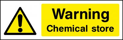 Warning chemical store sticker