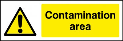 Contamintion area sticker