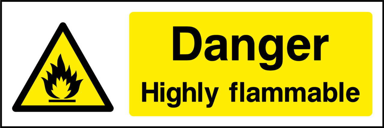 Danger highly flammable sticker health and safety signs 100 secure payment buycottarizona