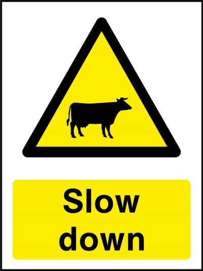 Cattle slow down stickers