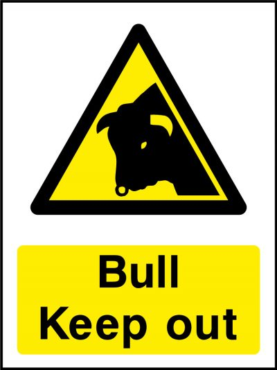 Bull keep out stickers