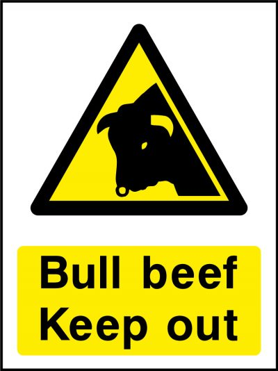 Bull beef keep out stickers