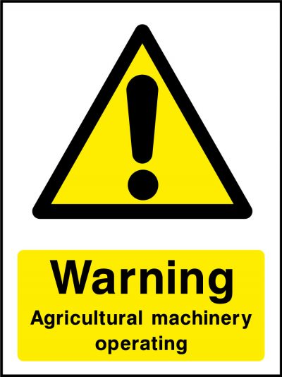 Warning agricultural machinery operating stickers