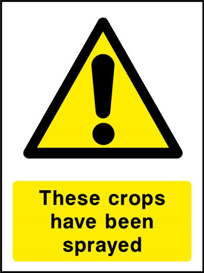 These crops have been sprayed stickers