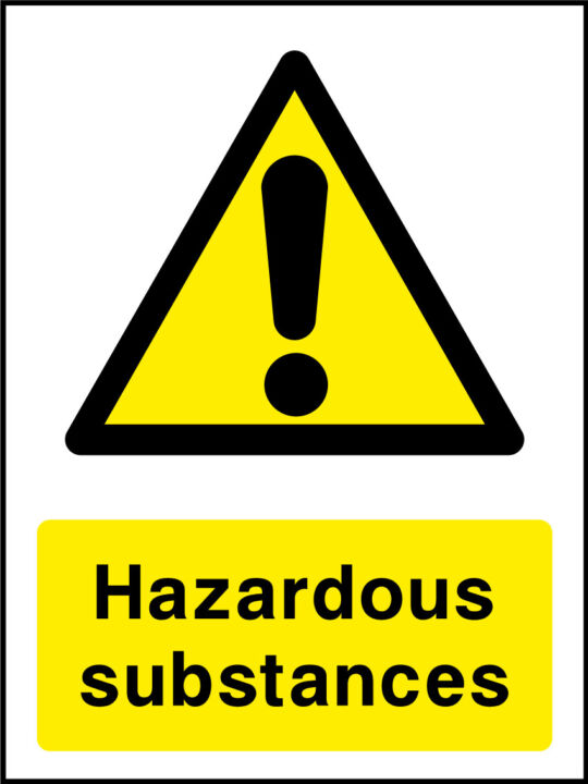 Hazardous Substances Stickers Health And Safety Signs