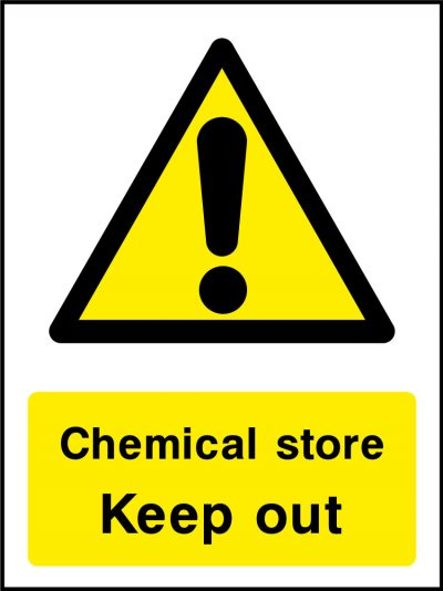 Chemical store keep out stickers