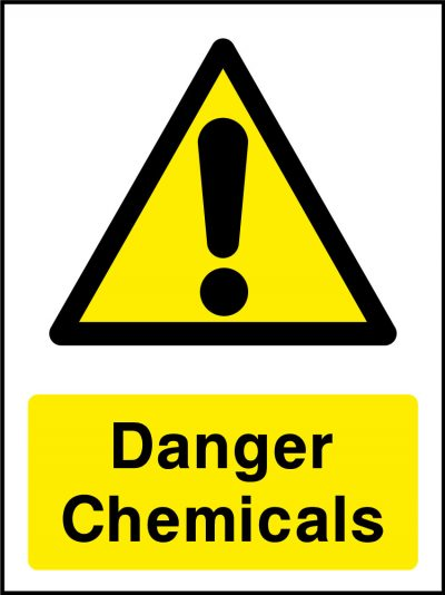 Danger chemicals stickers