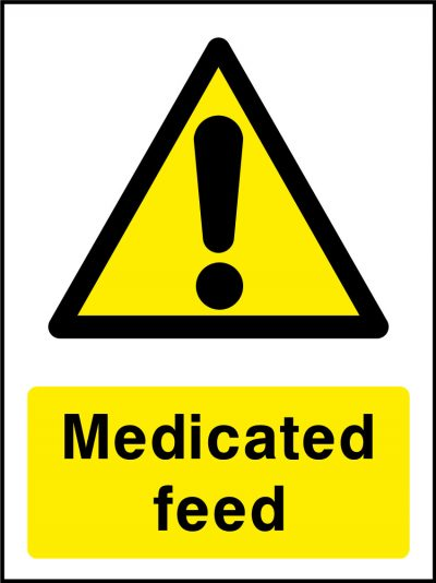 Medicated feed stickers