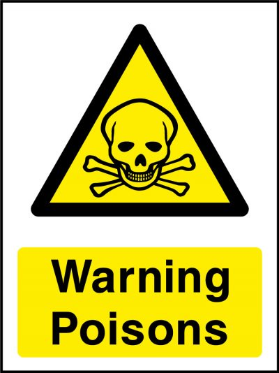 Warning poisons stickers