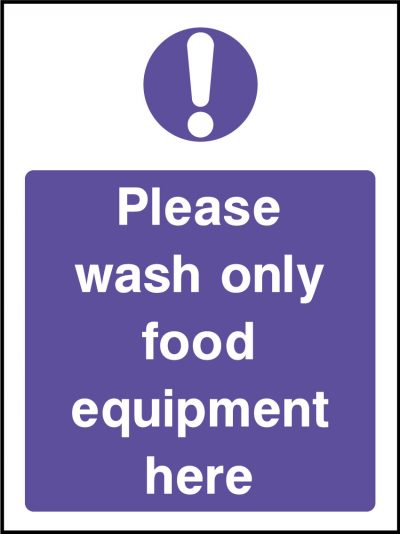 Wash food equipment here stickers