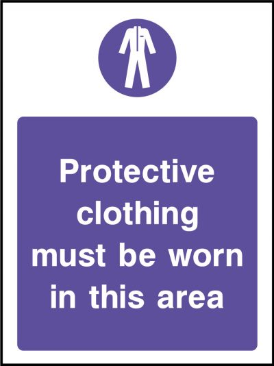 Protective clothing stickers