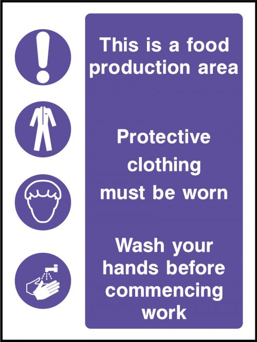 Food production area stickers health and safety signs - Stickers protection cuisine ...