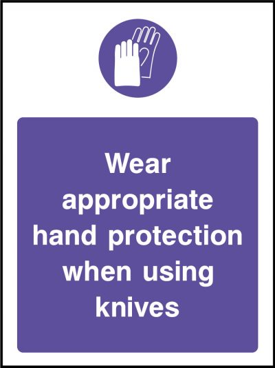 Hand protection stickers